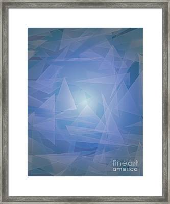 Lagoon Depth And Light Framed Print by Michelle Bergersen