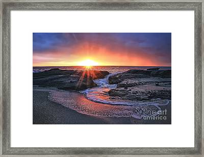Laguna Beach Sunset Framed Print by Elena Northroup