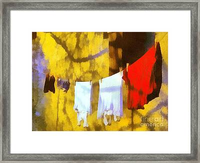 Laid Out To Dry Framed Print by Odon Czintos