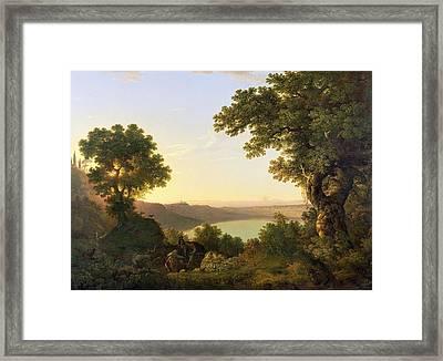 Lake Albano - Italy Framed Print by Thomas Jones