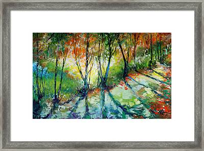 Lake Forest Hills Framed Print by Marcia Baldwin