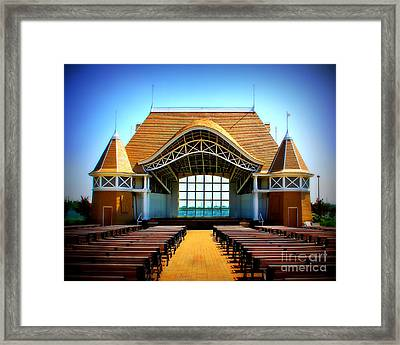 Lake Harriet Bandshell Framed Print by Perry Webster