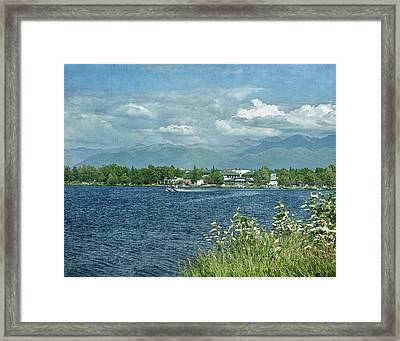 Lake Hood Anchorage Alaska Framed Print by Kim Hojnacki