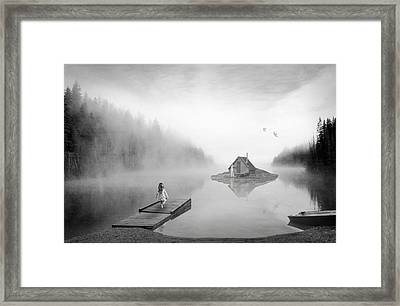 Lake House Framed Print by Matt Hanson