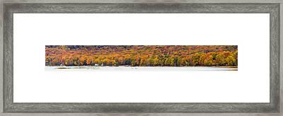 Lake Leelanau In The Fall Framed Print by Twenty Two North Photography