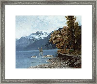 Lake Leman Framed Print by Gustave Courbet