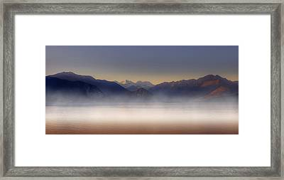Lake Maggiore And Alps Framed Print by Joana Kruse
