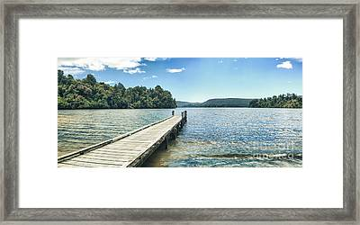 Lake Mapourika Panorama Framed Print by MotHaiBaPhoto Prints