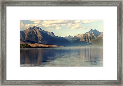 Lake Mcdonald At Sunset Framed Print by Marty Koch