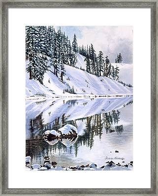 Lake Moraine Oregon Framed Print by Sharon Freeman