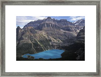 Lake Ohara In Canadian Rockies Framed Print by Axiom Photographic