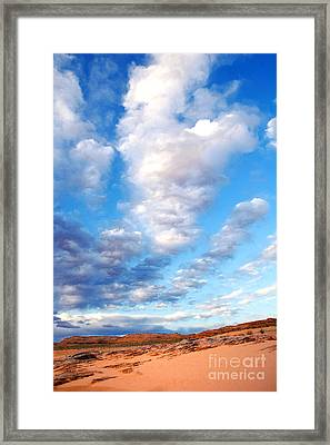 Lake Powell Clouds Framed Print by Thomas R Fletcher