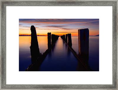 Lake Reflection Framed Print by Chad Dutson