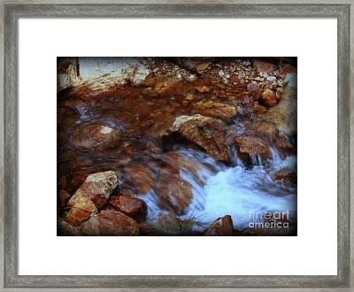 Lake Shasta Waterfall  Framed Print by Garnett  Jaeger