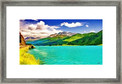 Lake Sils Framed Print by Jeff Kolker
