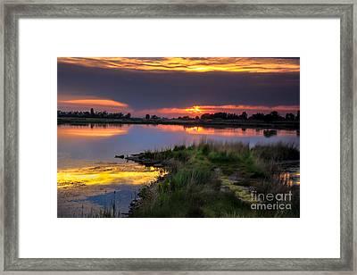 Lake Sunset Framed Print by Robert Bales