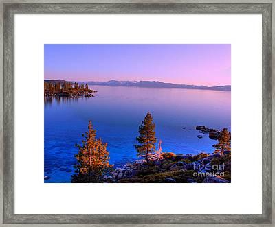 Lake Tahoe Serenity Framed Print by Scott McGuire