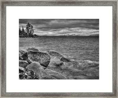 Lake Tahoe Winter Storm Framed Print by Scott McGuire