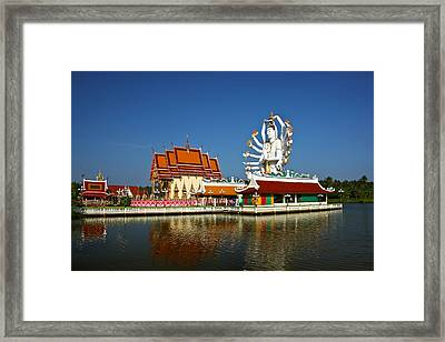 Lake Temple Framed Print by Adrian Evans