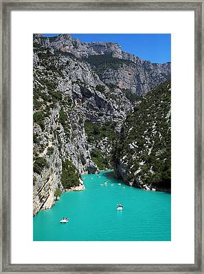 Lake View Framed Print by Lena Khachina
