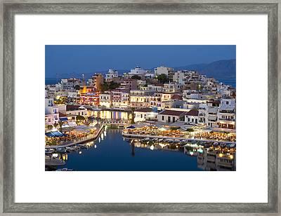 Lake Vouismeni Agios Nikolaos, Crete Framed Print by Axiom Photographic