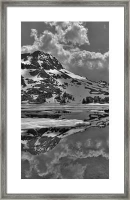 Lake Winnemucca Reflections Framed Print by Brad Scott