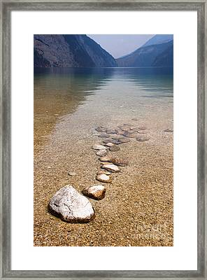 Lakestones Framed Print by Andrew  Michael