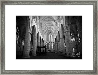 Lala Mustafa Pasha Mosque In The Old Town Of Famagusta Turkish Republic Of Northern Cyprus Trnc Framed Print by Joe Fox