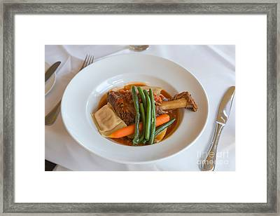 Lamb Shank Framed Print by Louise Heusinkveld