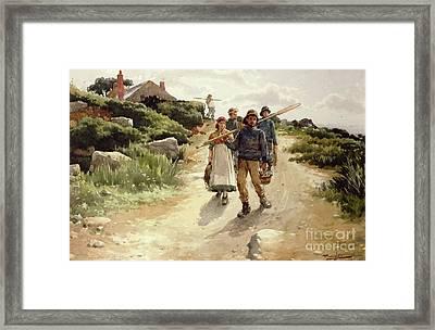 Lamorna Cove Cornwall Framed Print by Walter Langley