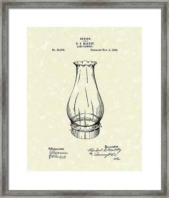 Lamp Chimney 1895 Patent Art Framed Print by Prior Art Design