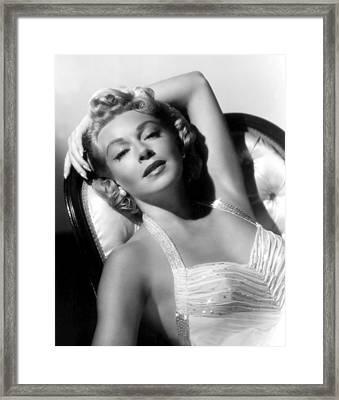 Lana Turner, 1957 Framed Print by Everett