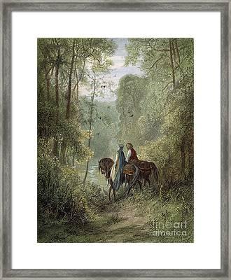 Lancelot & Guinevere Framed Print by Granger