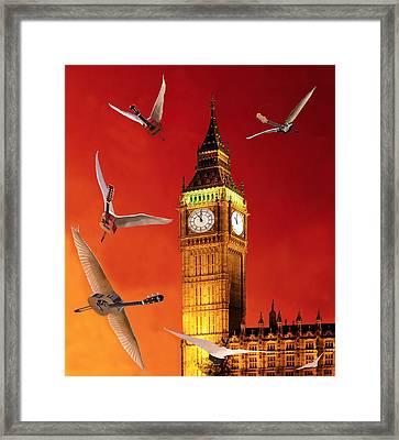 Landing In London Rocks Framed Print by Eric Kempson