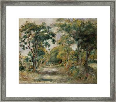 Landscape At Noon Framed Print by  Pierre Auguste Renoir