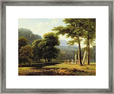 Landscape Framed Print by Jean Victor Bertin