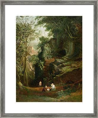 Landscape Near Clifton Framed Print by Francis Danby