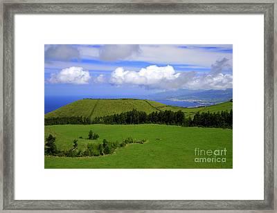 Landscape With Crater Framed Print by Gaspar Avila