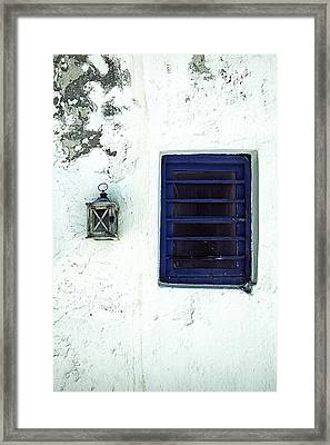 Lantern And Window Framed Print by Joana Kruse
