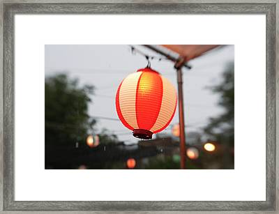 Lantern At Ginza Festival Framed Print by Seeing Is Believing.