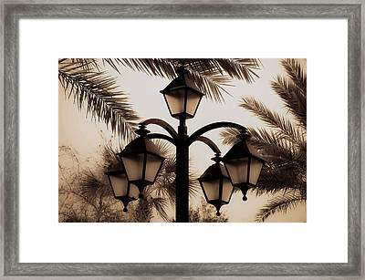 Lanterns And Fronds Framed Print by DigiArt Diaries by Vicky B Fuller