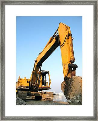 Large Backhoe Framed Print by Yali Shi