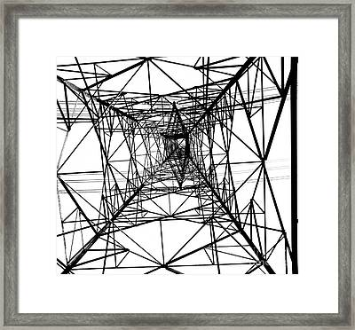 Large Electricity Powermast Framed Print by Yali Shi