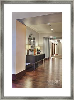 Large Hallway In Building Framed Print by Andersen Ross