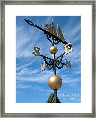Largest Weathervane Framed Print by Ann Horn
