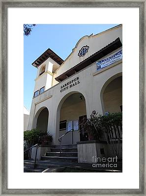 Larkspur City Hall - Larkspur California - 5d18471 Framed Print by Wingsdomain Art and Photography
