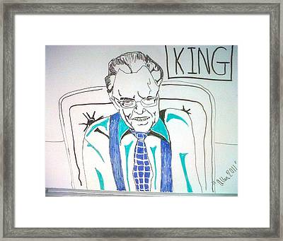 Larry King Framed Print by Allen Walters