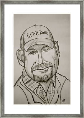 Larry The Cable Guy Framed Print by Pete Maier