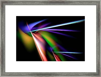 Laser Light Show Framed Print by Carolyn Marshall