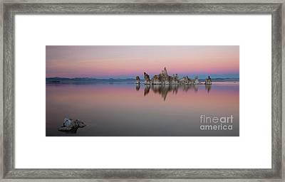 Last Light At Mono Lake Framed Print by Keith Kapple